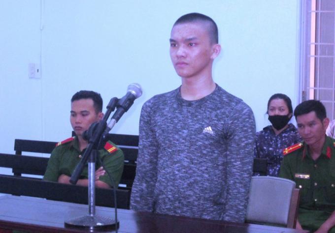 Bị cáo Nguyễn Võ Ngọc Bảo tại phiên xét xử