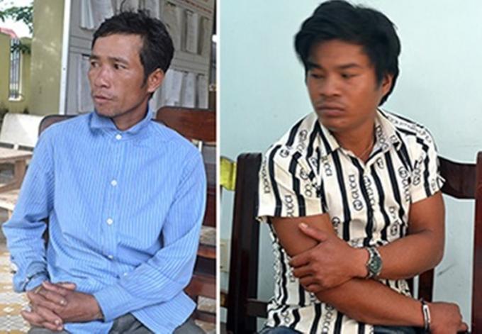 Phạm Văn Nghề (trái) và Phạm Văn Cua, Soi tại cơ quan điều tra.