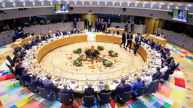 Toàn cảnh Hội nghị cấp cao Liên minh châu Âu (EU) tháng 7/2020.