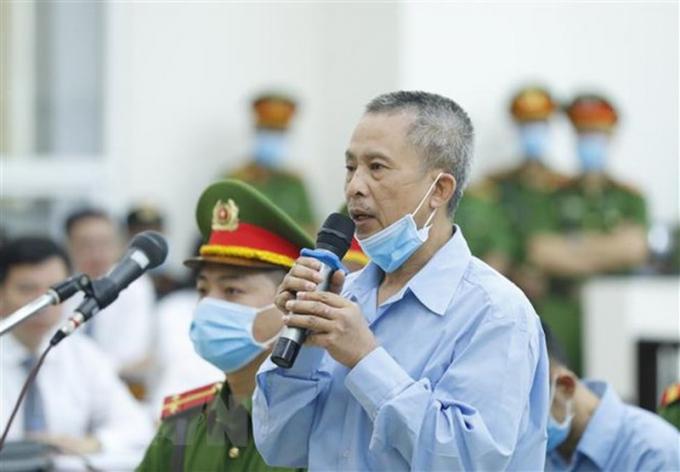 Bị cáo Lê Đình Công nói lời sau cùng trước khi tòa tuyên án. (Nguồn: TTXVN)