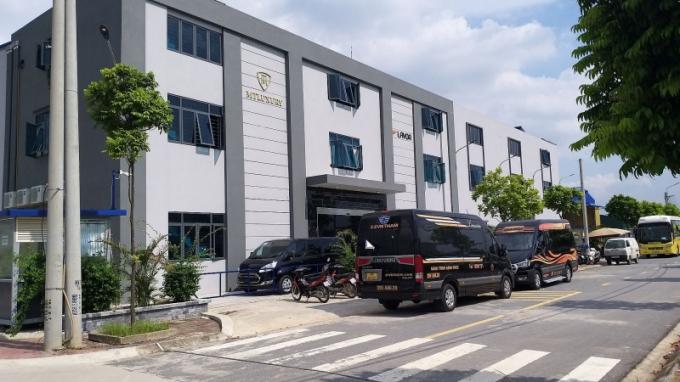 Một công trình nhà xưởng sản xuất tại Cụm công nghiệp làng nghề xã Dương Liễu.