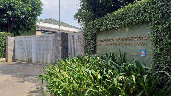 Nhà máy xử lý nước thải tại Cụm công nghiệp làng nghề xã Dương Liễu.