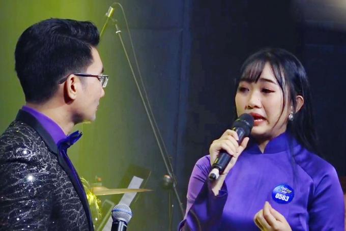 Thí sinh Nguyễn Dịu Kiên bật khóc khi chia sẻ về ca khúc dự thi