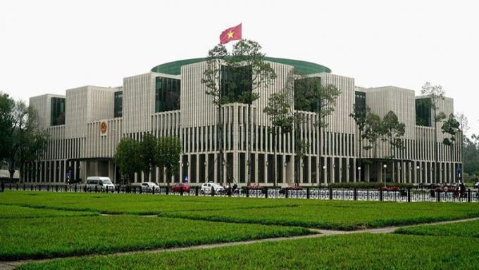 Toà nhà Quốc hội - nơi diễn ra kỳ họp thứ 10 Quốc hội khoá XIV.