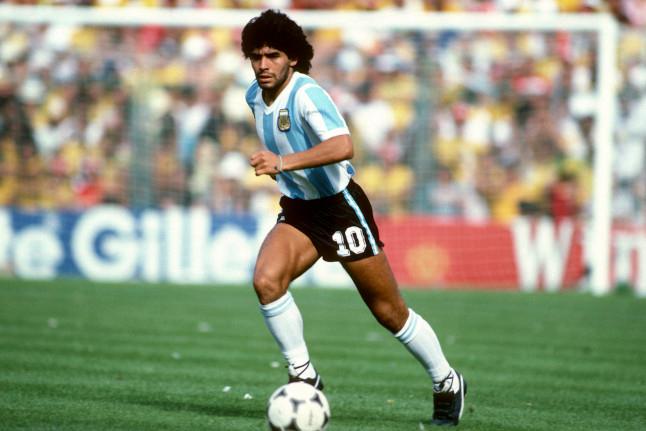 Diego Maradona tại World Cup 1982.