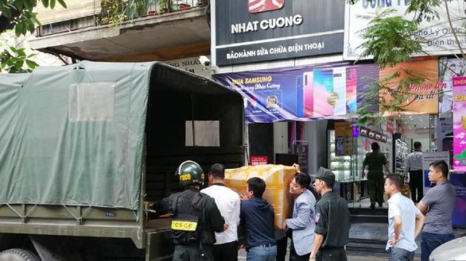 Bộ Công an khám xét chuỗi cửa hàng của Công ty Nhật Cường.