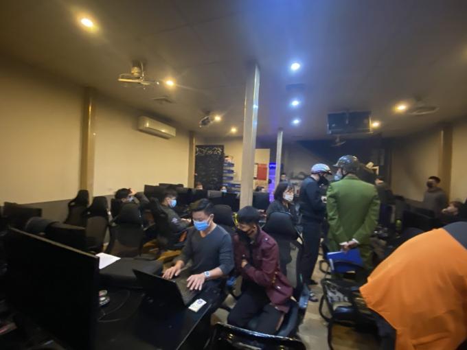 Cơ quan chức năng tiến hành kiểm tra đột xuất cơ sở kinh doanh Game online