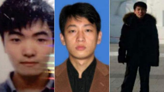 3 công dân Triều Tiên (từ trái sang) Kim Il, Park Jin Hyok và Jon Chang Hyok bị Mỹ truy tố.