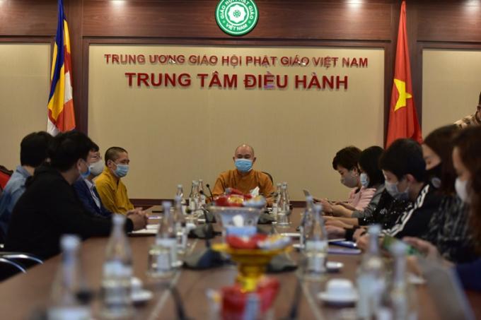 Thượng tọa Thích Đức Thiện, Phó Chủ tịch, Tổng Thư ký Hội đồng Trị sự Giáo hội Phật giáo Việt Nam, có buổi gặp gỡ báo chí để giải thích về chủ trương cúng dường, công đức qua ví điện tử vừa được áp dụng trong dịp Tết Tân Sửu 2021.