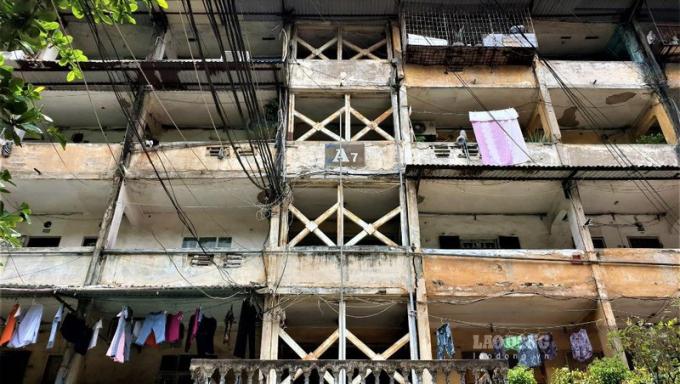 Khu tập thể cũ A7 Tân Mai, Hoàng Mai, Hà Nội.