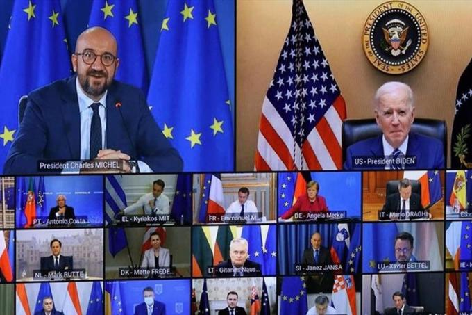 Hội nghị trực tuyến Mỹ - EU.