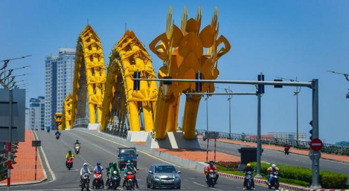 Cầu Rồng - cây cầu biểu tượng Khát vọng Rồng Tiên của Thành phố đáng sống (ảnh Báo Đà Nẵng).