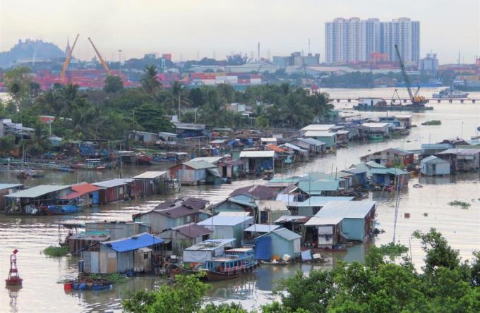 Làng bè thuộc phường Long Bình Tân, TP Biên Hoà, tỉnh Đồng Nai.