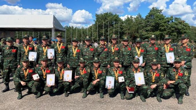 Đội tuyển Thông tin Liên lạc giành Huy chương đồng tại Army Games 2021.