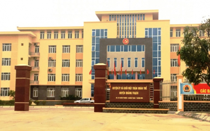 Trụ sở Huyện ủy huyện Quảng Trạch.