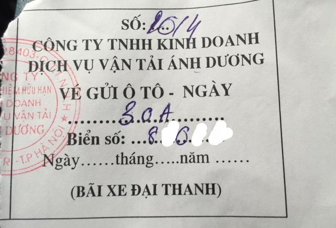 Vé xe Công ty TNHH kinh doanh dịch vụ một thành viên vận tải Ánh Dương phát hành.