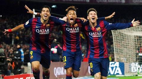 Tam tấu M-S-N(Messi-Suarez-Neymar) liệu có
