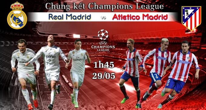 Một lần nữa Real Madrid và Atletico Madrid tái ngộ trong trận đấu cuối cùng của giải đấu danh giá nhất châu Âu.