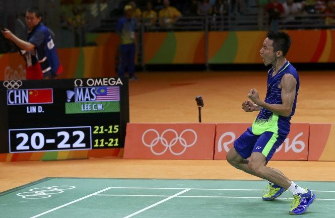 Lee Chong Wei đã lần đầu tiên đánh bại Lin Dan ở sân chơi Olympic.