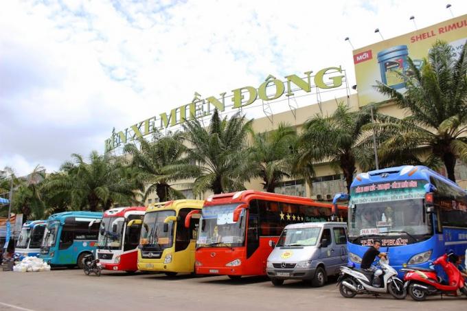 Giá vé xe khách tại thành phố HCM không vượt quá 40% dịp lễ 30/4. (Ảnh: Nguồn Internet)