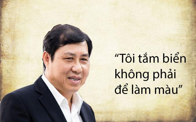 Ngày 1/5/2016 liên quan đến sự cố cá chết ở miền Trung, ông Huỳnh Đức Thơ phát ngôn: