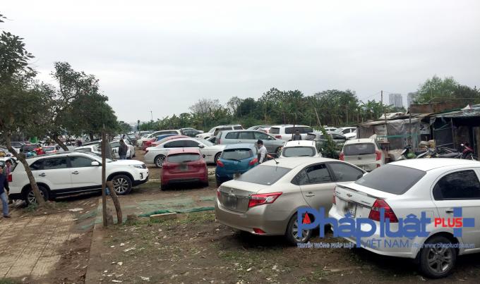 Dù hoạt động và thu tiền trai phép nhiều ngày nay, nhưng bãi trông xe ô tô tại đường Đặng Thai Mai (gần phủ Tây Hồ) vẫn không được các cơ quan chức năng xử lý triệt để.