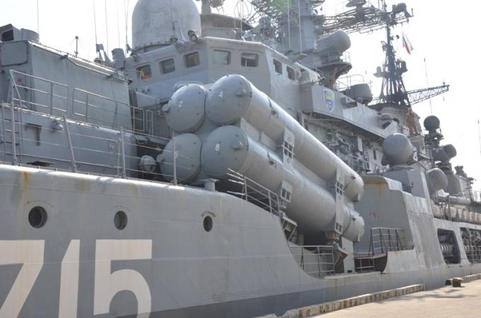 Một chiếc tàu trong đội tàu khu trục chống ngầm của Hải quân Liên bang Nga.