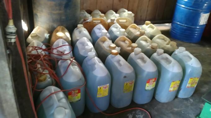 Số xăng dầu phát hiện tại nhà Thảo
