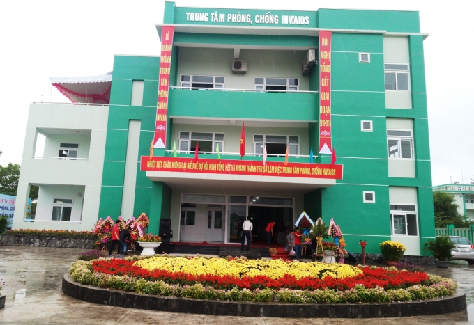 Trụ sở Trung tâmPhòng chống HIV/AIDS Quảng Nam vừa được khánh thành.