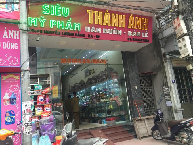 Cửa hàng Thành Ánh có địa chỉ tại đường Nguyễn Lương Bằng - Kiến An - Hải Phòng.