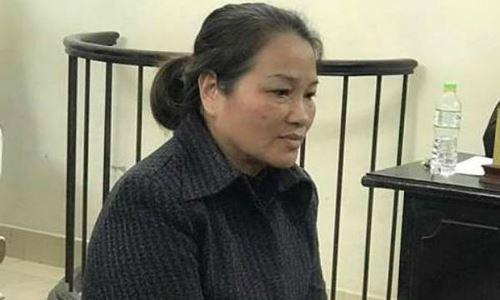 Bị cáo Nguyễn Thị Phượng tại phiên xét xử sơ thẩm lần 1.