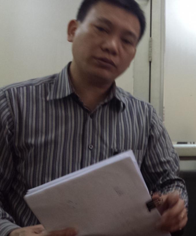 Ông Nguyễn Anh Tiến, Phó Giám đốc xí nghiệp quản lý - kinh doanh nước thuộc Công ty đầu tư Xây dựng số 2 Hà Nội.