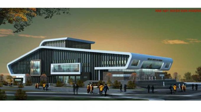 Hà Nội: Cận cảnh công trình Nhà hát huyện Đan Phượng đầu tư hơn 100 tỷ bỏ hoang