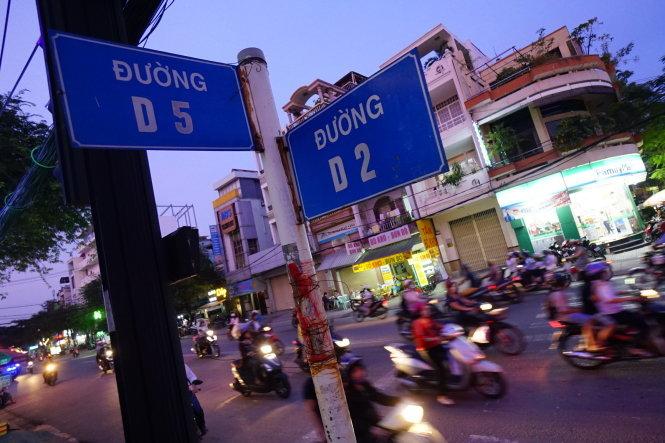 Đường D5 giao với đường D2, Q.Bình Thạnh, TP.HCM - Ảnh: QUANG ĐỊNH.