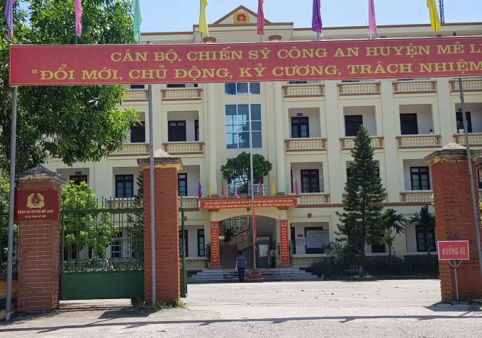 Trự sở Công an huyện Mê Linh.