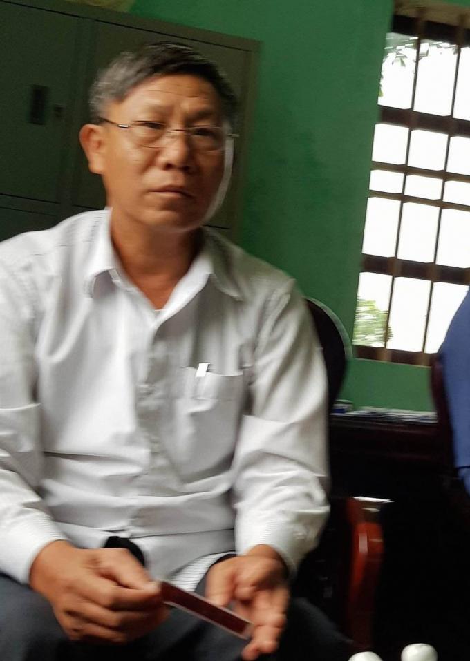 Ông Phạm Văn Nhuần, Chủ tịch UBND xã Phù Lương.