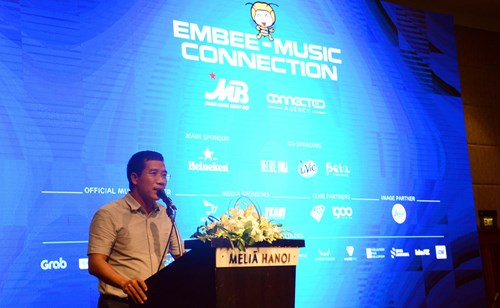 Tổng giám đốc MB Lưu Trung Thái giới thiệu chương trình EMBee - Music Conection.