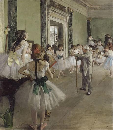 Danh họa Edgar Degas vốn nổi tiếng với những bức tranh khắc họa các vũ công.