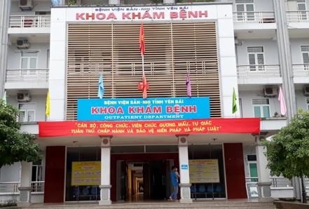 Bệnh việnSản nhi tỉnh Yên Bái nơi xảy ra vụ việc.