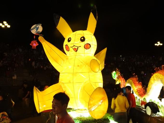 Chiếc đèn được chế theo hình Pokemon trông rất nghộ nghĩnh.
