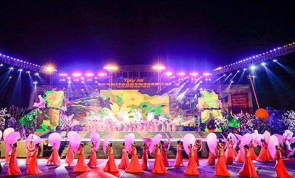 Tối ngày 1/10 UBND tỉnh Lào Cai đã khai mạc Ngày hội văn hóa, thể thao và du lịch. Ảnh: Báo Lào Cai.