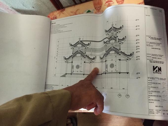 Theo bản thiết kế ban đầu đây là cổng chùa Huyền Diệu.