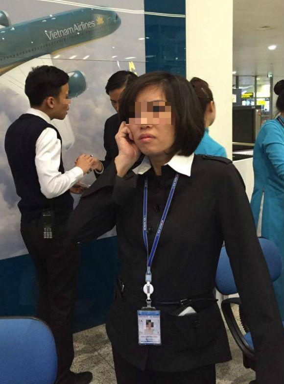 Anh Nguyễn Quốc Dũng cho biết, ngoài việc bị chậm chuyến còn gặp phải thái độ phục vụ, cách hành xử rất tắc trách, cửa quyền của một số nhân viênVietnam Airlines. (Ảnh hành khách cung cấp).