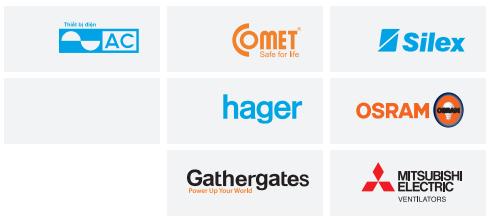 Một số thương hiệu do Công ty CP Khải Toàn phân phối.