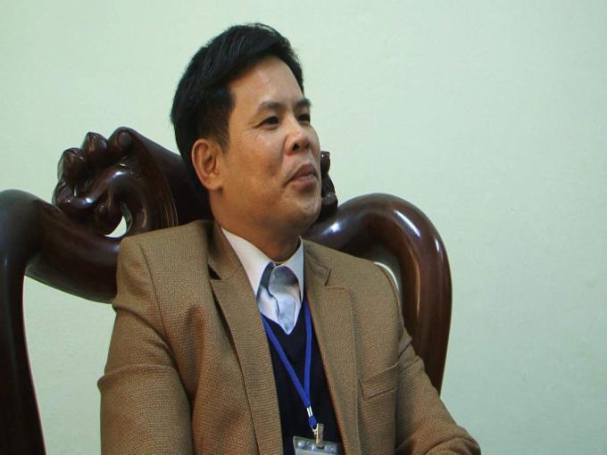 Ông Kiều Trọng Sỹ - Phó Phòng GD- ĐT Huyện Phúc Thọ nói về thông tin đi nước ngoài của Hiệu trưởng Tiểu học Xuân Phú.