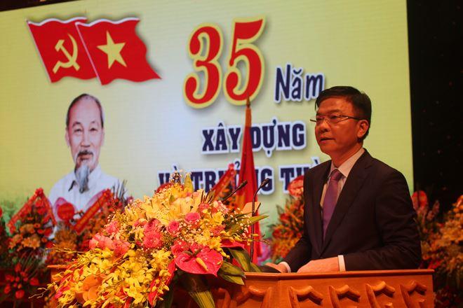 Bộ trưởng vui mừng nhận thấy sau 35 năm xây dựng và phát triển, Ngành Tư pháp tỉnh Bắc Giang đã trưởng thành về nhiều mặt. (Nguồn: Pháp luật Việt Nam)