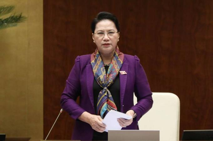 Chủ tịch QH Nguyễn Thị Kim Ngân.
