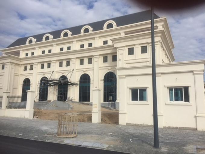 Trụ sở Kho bạc Nhà nước tỉnh Khánh Hòa đang được xây dựng.