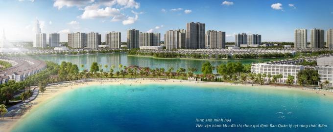 Biển hồ nước mặn 6,1ha trong lòng Thành phố đại dương VinCity Ocean Park sẽ được triển khai với bí quyết công nghệ độc quyền trên thế giới.