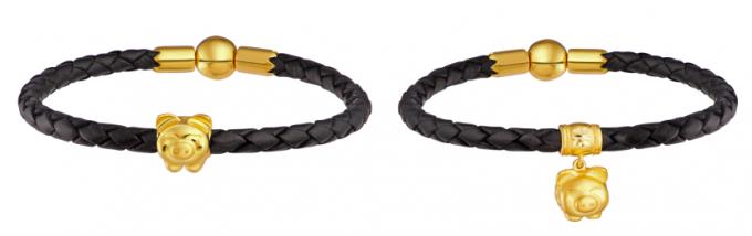 Vòng tay đính Charm Heo Vàng - biểu tượng linh vật năm Kỷ Hợi.